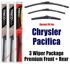 Wipers 3pk Premium Beam Front/Rear fit 2017+ Chrysler Pacifica 19260/200/14A