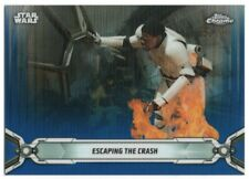 2019 Star Wars Chrome Legacy Blue Refractors 157 Finn Escaping the Crash 51/99