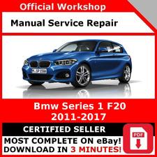 FACTORY WORKSHOP SERVICE REPAIR MANUAL BMW SERIES 1 F20 2011 - 2017