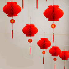 50PcsTraditional Chinese Red Fold Lantern Festival Hanging Decor Waterproor