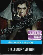 Resident Evil the Final Chapter (3D+2D Blu-ray) Steelbook Region Free (2017)