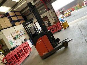 Linde R14 Reach Truck PERFECT CONDITION Not Still Toyota Hyster Cat