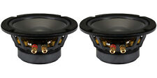 """NEW (2) 6.5"""" Woofer Speakers.Audio.6-1/2"""".8 ohm.six half inch bass monitor PAIR"""