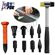 Paintless Dent Removal 9pc Heads Dent Repair PDR Tools Tap Down Head Knockdown