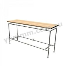 Rustic Industrial Iron Pipe Workbench Kitchen Garage Table Legs Base Frame DT068