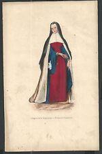 holy card grabado antiguo Monja de la Anunciacion image pieuse estampa santino