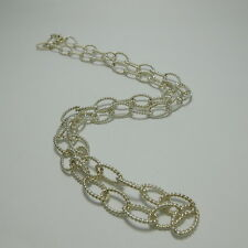 """Tiffany Twist Oval Link Necklace 35.4"""" Sterling Silver 925"""