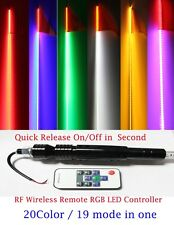 5 feet RGB Led whip with flag Quick Release, 20 color/19 mode remote controller