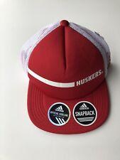 Nebraska Cornhuskers adidas climalite Sideline Snapback Adjustable Hat