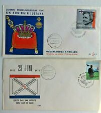 2(TWO) NETHERLANDS ANTILLES FDCs