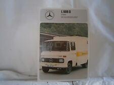 Catalogue voiture pub auto prospectus Camion Mercedes Benz L 608 D chassis