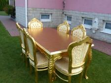 TABLE BAROQUE STYLE  TABLE + 6 CHAIRS - GOLD #MB8