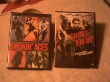 SHOOT'EM UP & SMOKIN' ACES lot of 2 DVDs Action Adventures Crime Dramas