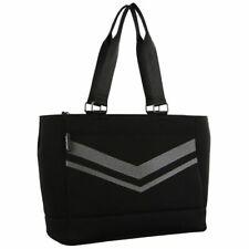 Milleni Neoprene Large Tote Handbag Scuba Feel Black Carry Bag