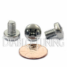 M6 x 8mm - Qty 10 - Stainless Steel Phillips Pan Head Machine Screws DIN 7985 A