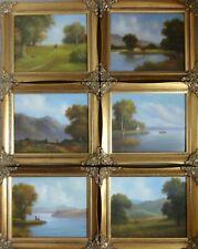 More details for 6 original  signed framed welsh oil on board landscapes  ray raymond witchard
