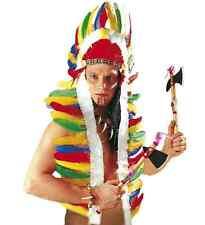 INDIAN NATIVE AMERICAN HEADDRESS SET FANCY DRESS ACCESSORY FEATHER HEADPIECE