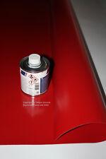 Planen Reparatur Set II (groß) - 250 ml Planenkleber + 1,00 qm PVC Hellgrau