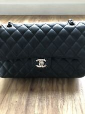 6e6be112b117 CHANEL CAVIAR CALF SKIN SILVER HARDWARE CLASSIC MEDIUM FLAP BAG MADE IN  FRANCE