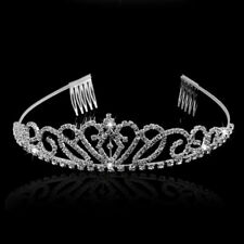 Rhinestone Crystal Tiara Hair Band Kid Girl Bridal Princess Crown Headband