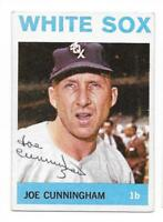 JOE CUNNINGHAM 1964 TOPPS AUTOGRAPHED SIGNED # 340 WHITE SOX