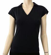 PRADA SPORT Black Nylon Collared Biker Shirt Top with Zip Pocket and Logo S