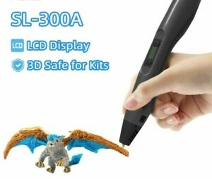 3D Printing Pen Support Low And High Temperature  With LCD Display 3D Safe Kids