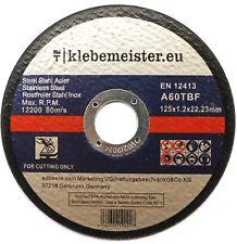 100x Trennscheiben ∅ 125 mm (inkl. Zertifikat) ⎥ Marke: klebemeister® ⭐️⭐️⭐️