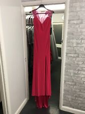 Dynasty London Robe de bal Fuchsia Rose Paillettes Dip ourlet taille 6 Ball Black Tie