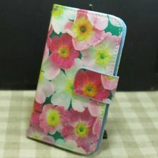 Beautiful Flower Wallet Pouch Holder Magnetic Flip case cover for Samsung Galaxy
