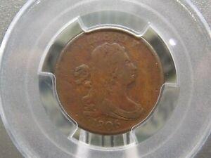 "1806 Draped Bust Half Cent 1/2c PCGS G6 ""SMALL 6, No Stems"" Good ECC&C, Inc."