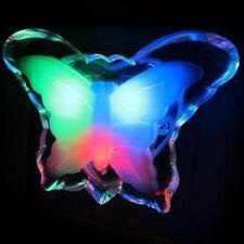1X Romantique DEL Coloré PAPILLON Chevet Lumière Nuit Lampe Chambre décorer Lampe ^