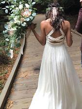 Free People Golden Dawn Maxi Dress *Ivory* Bohemian Wedding  *Rare Find* Size 8