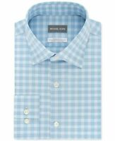 Michael Kors Men's Classic/Regular-Fit Airsoft Non-Iron Stretch Shirt, Size 18