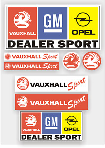 Vauxhall GM Dealer Sport Decal sticker pack, Vinyl, laminated to protect.