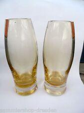 19806 2 x 60er 70er Jahre Vase 19cm Überfang glass Glas Panton Rakete space age
