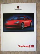 PORSCHE OFFICIAL 911 996 CARRERA TEQUIPMENT ACCESSORY BROCHURE 2000 USA EDITION