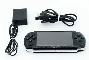 Sony PSP 3000 Launch Edition Black Handheld System Console + Charger [Excellent]
