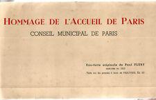 Paris 1925. Eau Forte Originale de Paul Flury Dans son Carton d'origine. RARE+++