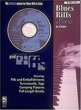 Blues Riffs for Piano (Educational Piano) Book & Online Audio - Acceptable -
