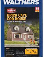 HO Scale Walthers Cornerstone 933-3774 Brick Cape Cod House Building Kit