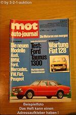 MOT 14/72 Ford Taunus 1300 Fiat 128 VW 181 K 70 412