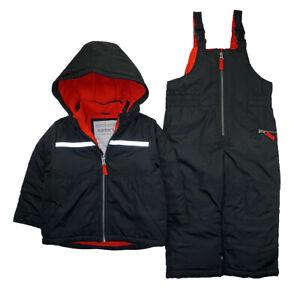 Carter's Boys Black & Red 2pc Snowsuit Size 2T 3T 4T 4 5/6 7