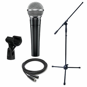 Dynamic Microphone Bundle- Shure SM58, Boom Stand and XLR Cable