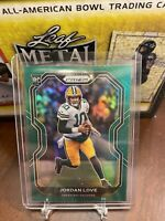 2020 PANINI PRIZM FOOTBALL #363 JORDAN LOVE GREEN PRIZM PARALLEL RC Packers