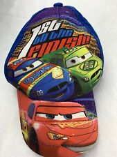Cars Disney 1st To The Finish Lightning McQueen Adjustable Kids Ball Cap Hat