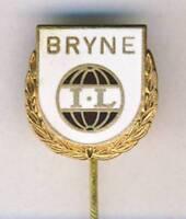 old BRYNE IL PIN Badge FOOTBALL SOCCER Club NORWAY Bryne FK
