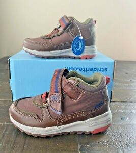 NWT BOYS TODDLER STRIDE RITE M2P NATE BROWN BOOTS SHOES MULT SZ