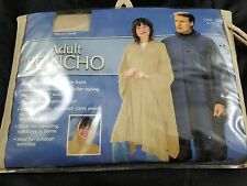 BERKSHIRE ADULT PONCHO/RAINCOAT W/REUSABLE CARRY POUCH - ONE SIZE FITS ALL - TAN
