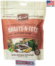 Natural Healthy Merrick Dog Biscuits BRAUTS-N-TOTS Made in USA Grain Free